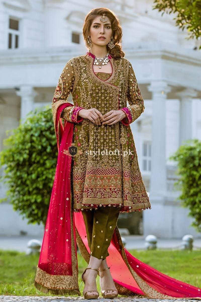 STYLE LOFT.PK Aisha Imran Bridal Collection 2019 Unstitched 3Piece Chiffon Suit