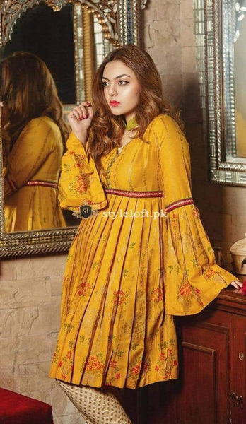 STYLE LOFT.PK Akbar Aslam Eid Lawn Collection 2019 Embroidered Two Piece Suit