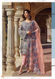 STYLE LOFT.PK Akbar Aslam Royal Luxury Chiffon 2019 D-07 Silver Unstitched 3 Piece Suit