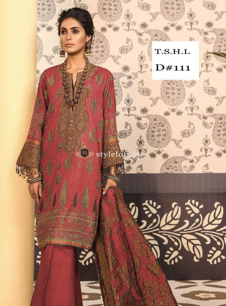 STYLE LOFT.PK Alkaram Studio Festive Linen Collection Unstitched 3PC Suit FC-5A