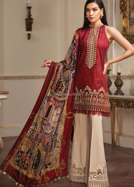 Anaya by Kiran Chaudhry Embroidered Lawn Unstitched 3 Piece Suit AKC19L 08 Sirena - Spring / Summer Collection