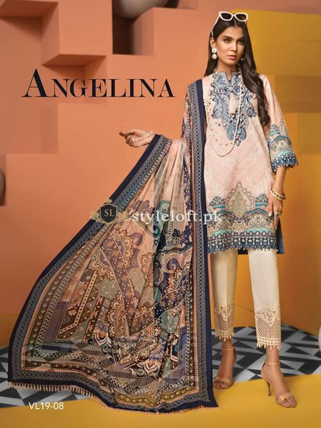 7895f6b0cd PK Anaya By Kiran Chaudhry Embroidered Lawn Unstitched 3 Piece Suit AKC19VL  08 ...