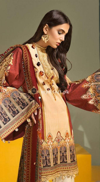 STYLE LOFT.PK Anaya By Kiran Chaudhry Embroidered Lawn Unstitched 3 Piece Suit AKC19VL 10 AMELIA - Spring / Summer Collection