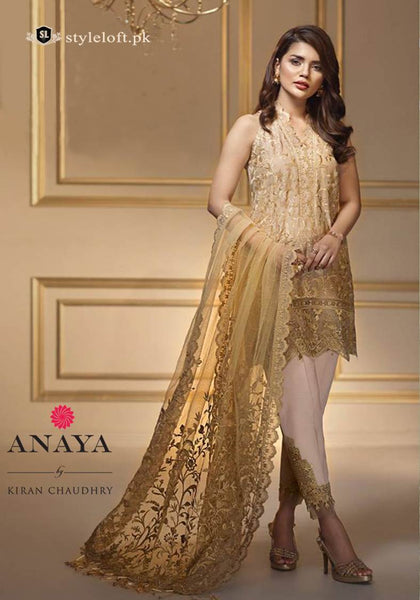 ANAYA Chiffon Collection 3Piece Suit ALF-07 Golden Harvest