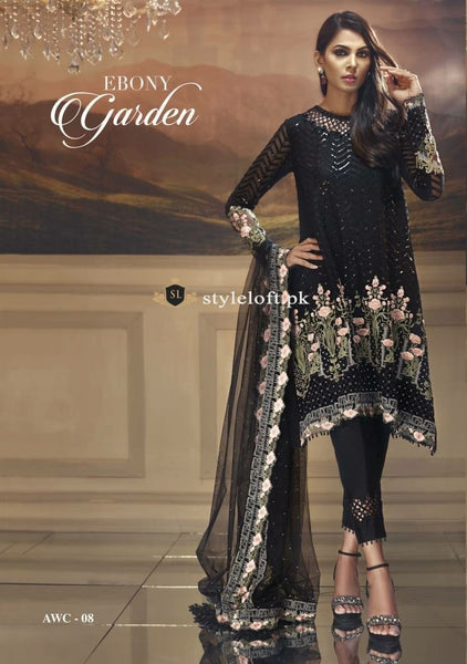 Anaya Chiffon Wedding Collection 2018-Ebony Garden