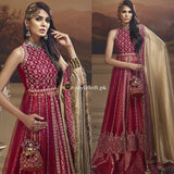 Anaya Chiffon Wedding Edit Collection 2018-Scarlet Blush