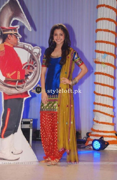Anushka Sharma Movie Premier Spotted Punjabi Dress