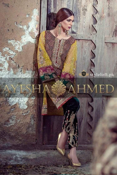 Ayesha Ahmed Embroidered Lawn 2Pc Shirt & Trouser