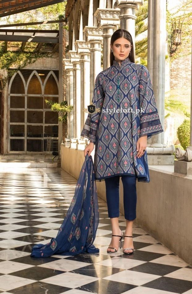 ebf7bc4919 Bareeze Embroidered Unstitched 3 Piece Lawn Suit - Luxury Collection ...