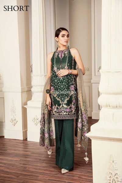 STYLE LOFT.PK Baroque Chantelle Chiffon Collection 2019 3Piece Suit 04-Crystal Dust