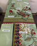 Baroque Dhanak Fabric Linen 3Piece, Wool Shawl
