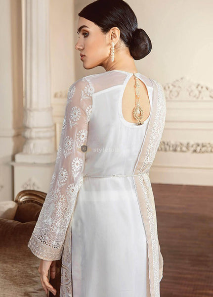 Baroque Embroidered Chiffon Unstitched 3 Piece Suit BQC-02 Perles - Luxury Collection