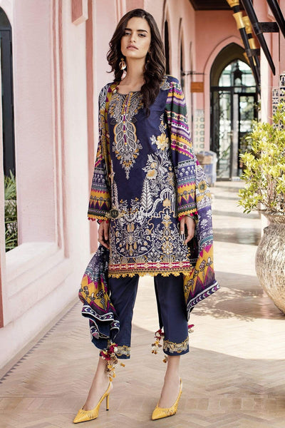 STYLE LOFT.PK Baroque Lawn Embroidered 3Pc Suit Summer 2019 BQ-03 River Side