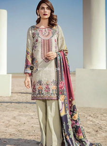STYLE LOFT.PK Baroque Lawn Unstitched Embroidered 3Pc Dress 09 - Eastern Impression