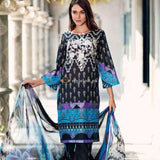 STYLE LOFT.PK Charizma Black & White Lawn Collection Unstiched 3Pc Suit BW-1