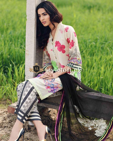 Charizma Embroidered Lawn Collection 2019 3Piece CK-19