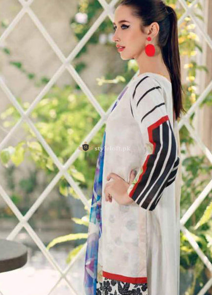 STYLE LOFT.PK Charizma Embroidered Lawn Unstitched 3 Piece Suit CRZ19BW 02 - Black And White Collection