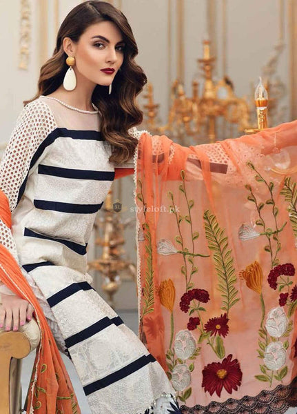 STYLE LOFT.PK Charizma Embroidered Lawn Unstitched 3 Piece Suit CRZ19L 05 - Spring / Summer Collection