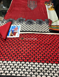 Charizma Linen Collection 3Piece - Wool Shawl PG-11Red