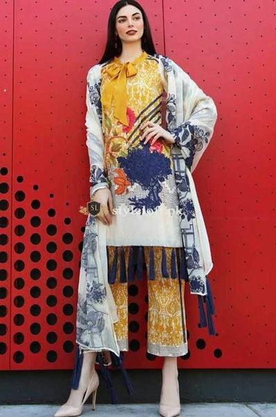 STYLE LOFT.PK Charizma Naranji Summer Lawn Collection 2019 3Piece Suit CN-19-11