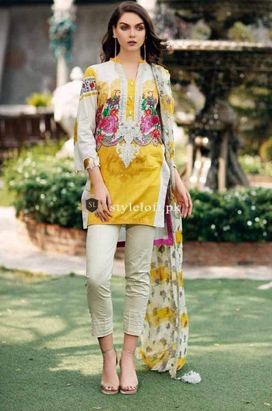 STYLE LOFT.PK Charizma Sheen Lawn Collection 2019 3Piece Suit SH-02-A