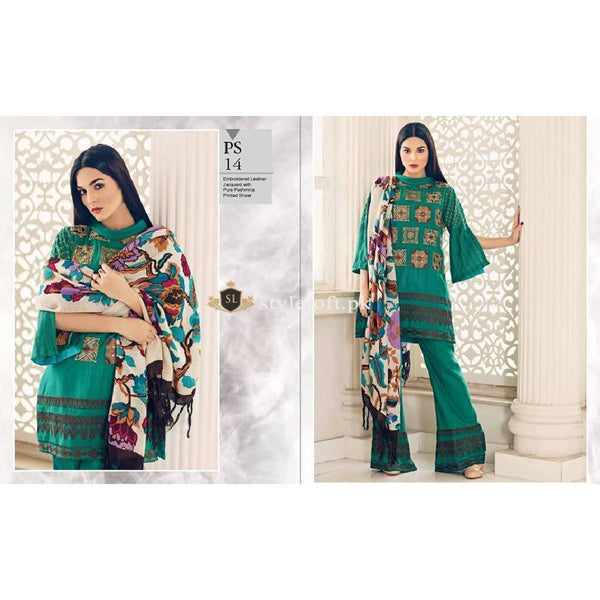 Charizma Winter Poshema Collection 2018 PS-14 Green