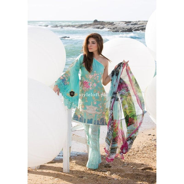 Crimson Aruba Swiss Lawn Collection 2019 Unstitched 3 Piece Suit - 2B