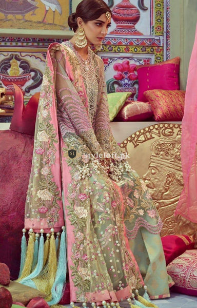 STYLE LOFT.PK Crimson X Republic Wedding Collection 2019 Unstitched 3PC Suit D01 Arsh