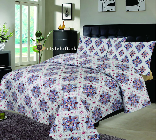 D-641 Premium Cotton King Bedsheet