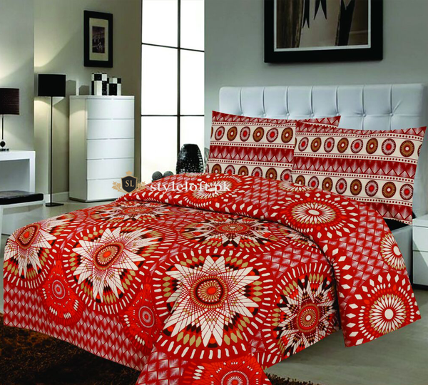 D-642 Premium Cotton King Bedsheet
