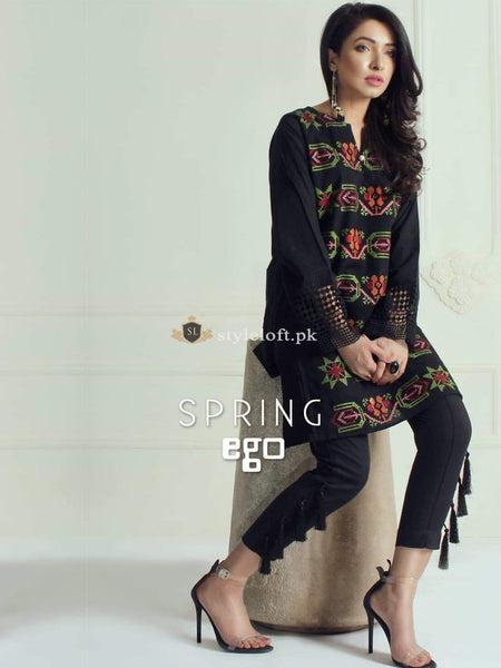 Ego Spring Lawn Embroidered Collection 2019 2Pc Dress