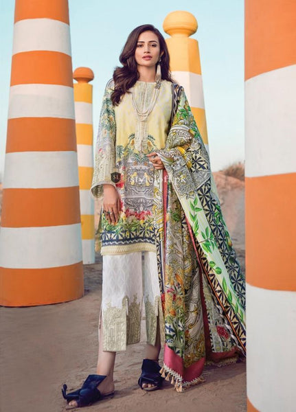 Epoque By Sana Yasir Embroidered Lawn Unstitched 3Pc Suit EP18L 07