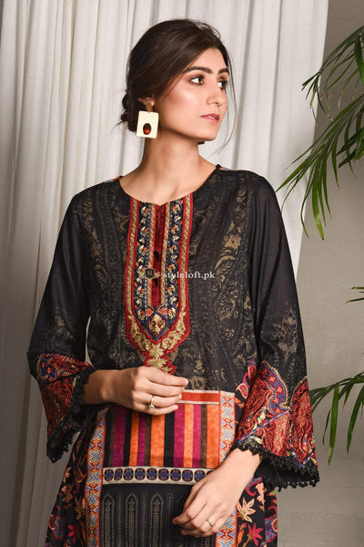 Ethnic Spring Summer Lawn Collection 2019 3 Piece Suit WTB191883