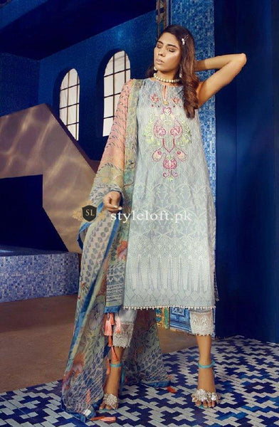 Ethnic Winter 3Pc WUC143-Grey