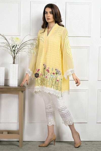 STYLE LOFT.PK Farida Hassan Lawn Collection 2019 Embroidered 2Piece Suit SS18-01