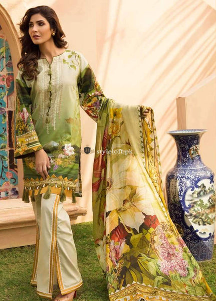 STYLE LOFT.PK Firdous Embroidered Exclusive Linen 3Piece Suit - Chiffon Dupatta