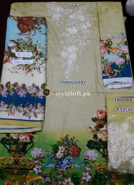 Firdous Tropical vol.1 Linen 3Piece -CEE-04