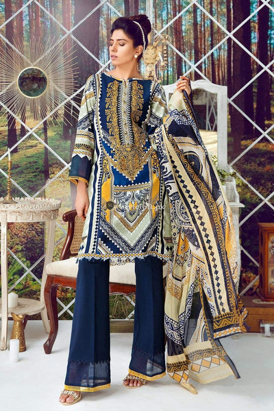 STYLE LOFT.PK Firdous Virasat Collection Linen Unstitched 3 Piece Suit 19101-A