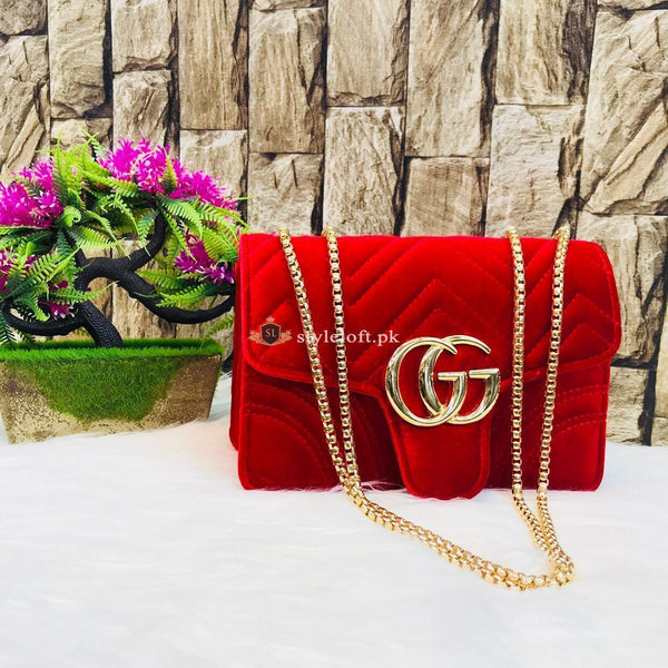 GUCCI Cross Body Shoulder Bag for Ladies and Girls Red