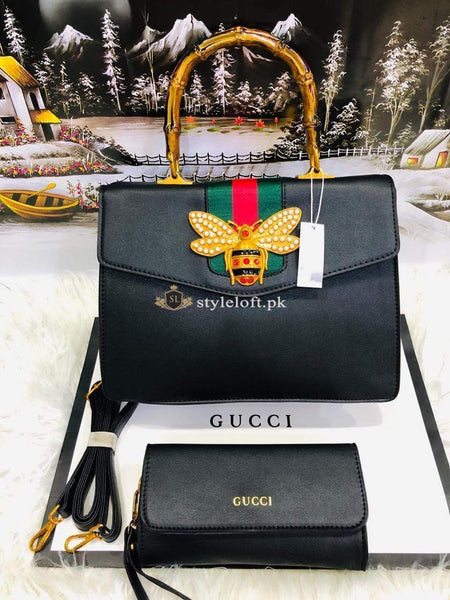 STYLE LOFT.PK GUCCI Women's 2Pc Bag Set Collection Spring Summer 2019 Black