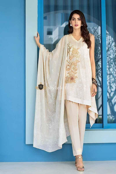 STYLE LOFT.PK Gul Ahmed Lawn 3Pc Suit with Chiffon Dupatta CL-527 B