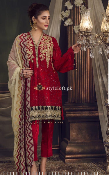 4bf3a54a87 PK Gul E Noor Premium Chiffon Collection 2019 by Zebaish Unstitched 3 Piece  ...