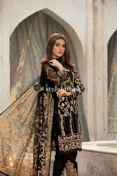Gulaal Embroidered Chiffon Collection 2019 3Piece Unstitched Dress