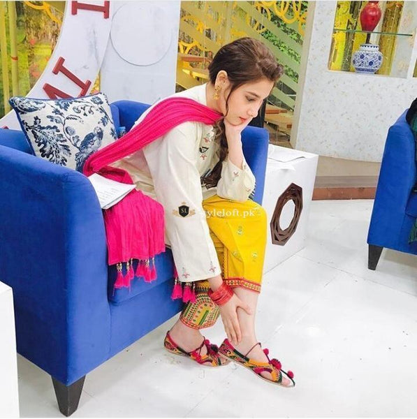 Hina Altaf Lawn Embroidered Collection 2019 2Pc Dress