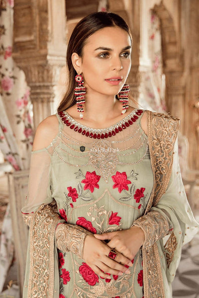 STYLE LOFT.PK Imrozia by Serene Embroidered Chiffon Unstitched 3Pc Suit SEI19KM 802 GUL-E-GULZAAR