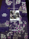 Imrozia Linen 3Piece The Purple Splash D-10