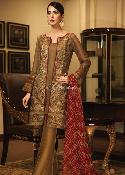 Jazmin Embroidered Lawn Unstitched 3 Piece Suit JZ18W-08