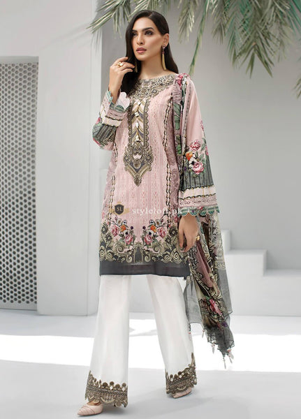 STYLE LOFT.PK Jazmin Embroidered Linen Unstitched 3 Piece Suit JIR19-L2 01 FREYA