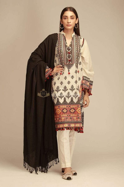 STYLE LOFT.PK Khaadi Embroidered Lawn Collection 2019 Unstitched 3 Piece Suit - KZ18401