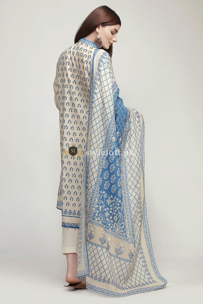 Khaadi Embroidered Lawn Collection Unstitched 3Pc Suit KH-1910